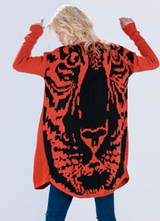 Tiger Tales Oversized Cardigan