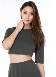 Jagged Textured Crop Top
