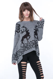Reindeer Games Fuzzy Knit Sweater