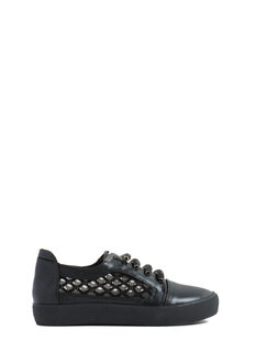 Bedazzle Me Faux Leather Sneakers
