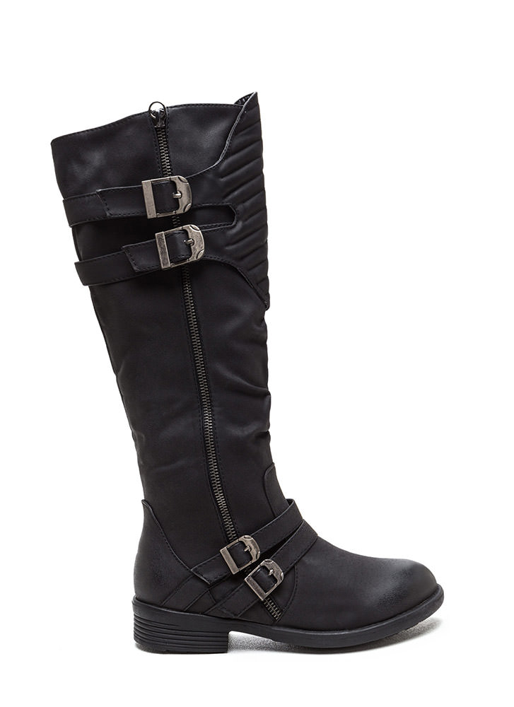 Gimme A Moment Faux Nubuck Boots
