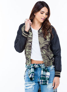 Hide And Seek Camo Varsity Bomber