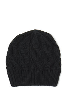 Solid Choice Cable Knit Beanie