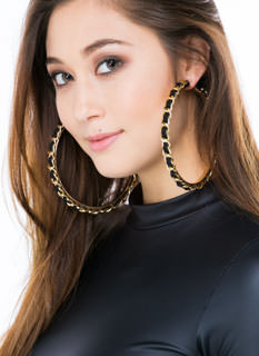 Game Chain-ger Hoop Earrings