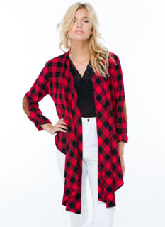 Heard Of Buffalo Plaid Draped Shirt