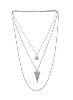 Tri Again Layered Chain Necklace