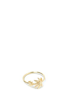 High Regard Matte Leaf Charm Ring