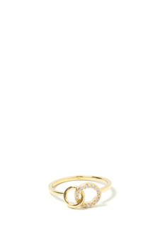 Hoop Dreams Linked Jeweled Ring