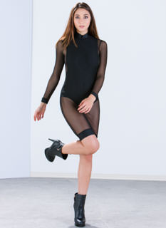 Bare In Mind Sheer Trimmed Dress
