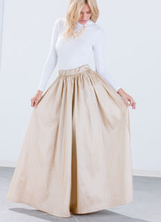 Oh So Fancy Taffeta Maxi Skirt