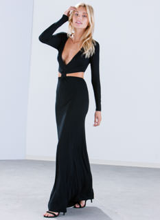 Knot Ur Basic Cut-Out Maxi Dress