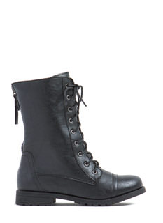 Bound By Contrast Zipper Boots
