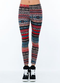 Let's Play Fair Isle Terry Leggings
