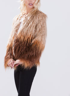 It's In The Shag Ombre Faux Fur Coat