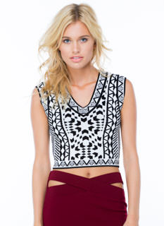 Knit Wit Mirrored Cropped Tank