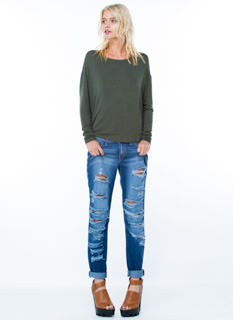 Trust Me Distressed Boyfriend Jeans