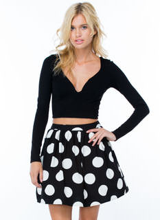 Dots On Dots Skater Skirt