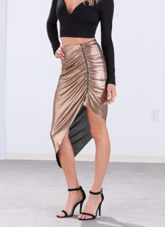 All That Glimmers Ruched Skirt