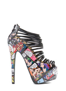 Level Up Comic Platform Heels