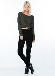Natural High-Waisted Skinny Jeans