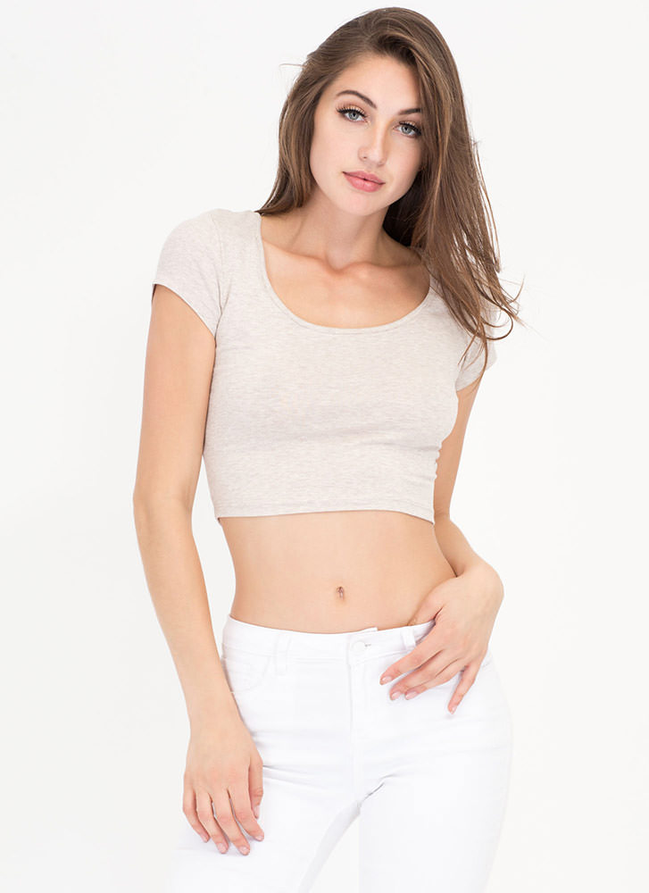 Cover Your Basics Scoopneck Crop Top