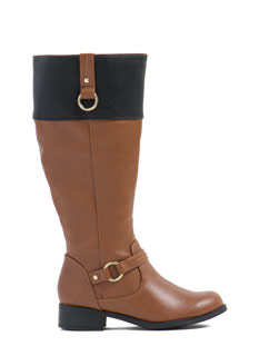 Saddle Up Contrast Panel Boots