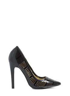 Hole New World Perforated Heels