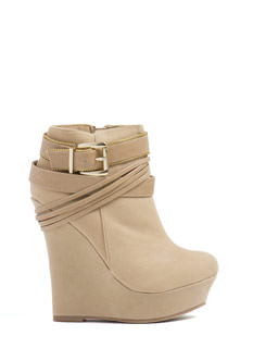 Wrap Superstar Strappy Wedge Booties