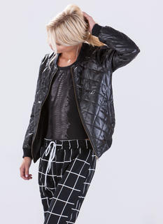Queen Puff Quilted Bomber Jacket