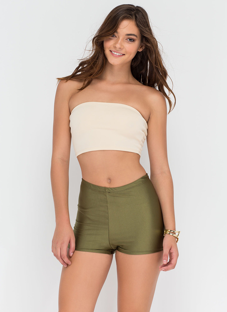 Roller Gal High-Waisted Shorts