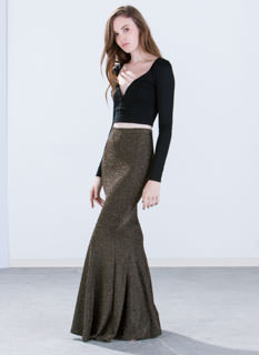 Diana Metallic Mermaid Maxi Skirt