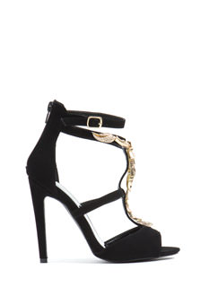 The Scorpion Queen Faux Nubuck Heels