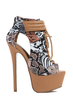 Animal Kingdom Platform Heels