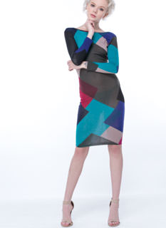 All About Geo Bodycon Dress