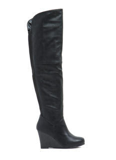 Clean Lines Wedge Boots