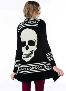 Skulls Test Open Knit Cardigan