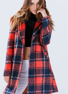 Plaid Attitude Wool Coat