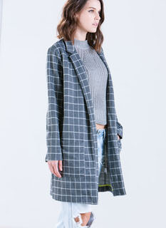 Grid The Line Oversized Blazer