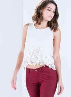 Floral Bloom Crochet Tank