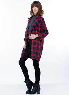 Plaid 2 Be Here Flannel Blazer