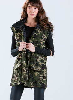 Hide And Seek Oversized Camo Vest