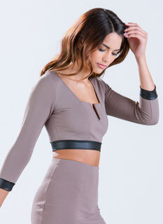 Cut And Trim Textured Crop Top