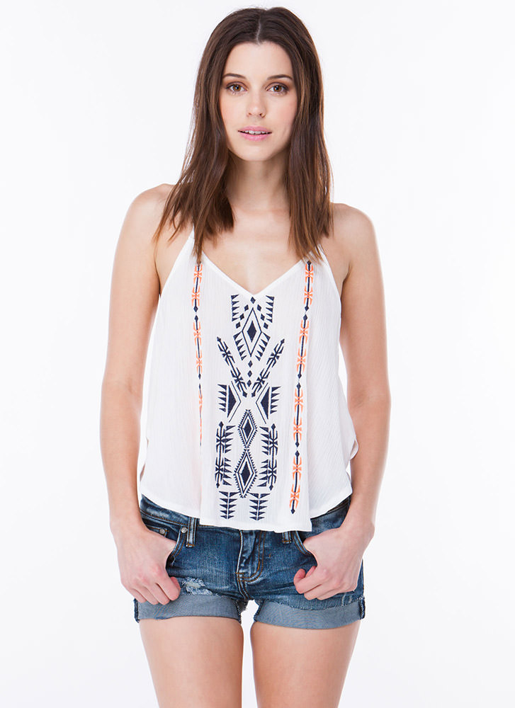 Tribal Dreams Embroidered Tank