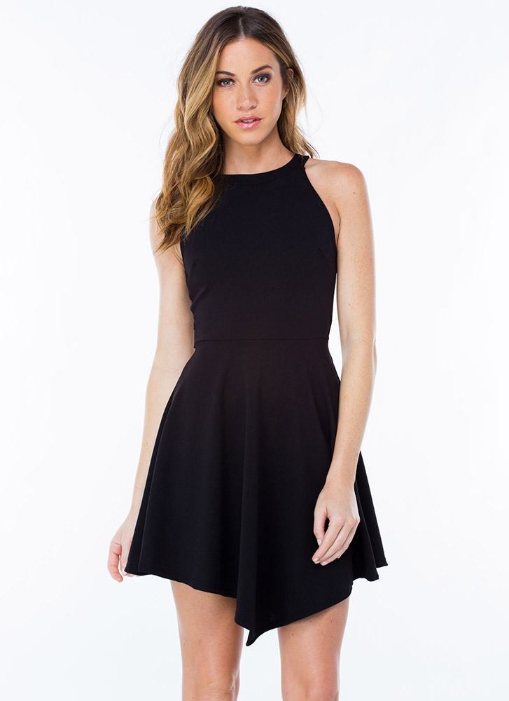 Two To One Cut-Out Skater Dress
