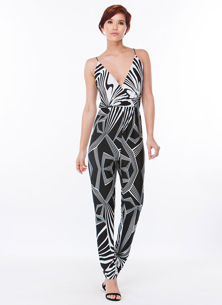 Mesmerize Abstract Geo Jumpsuit