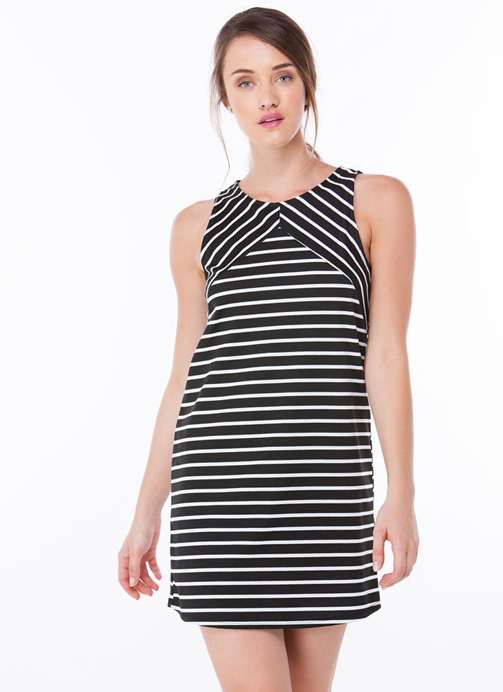 On The Lineup Striped Shift Dress