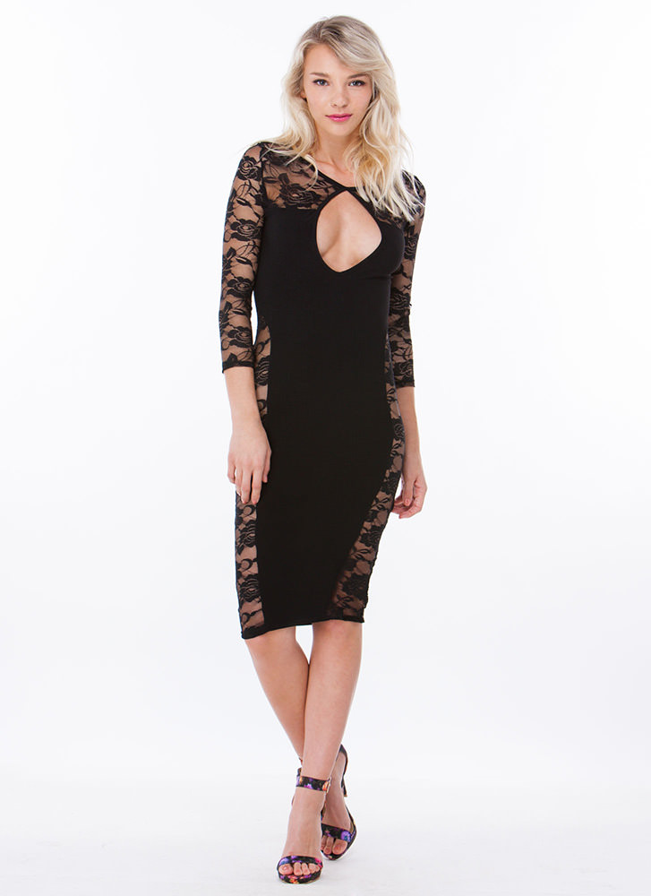 Rose To The Occasion Lace Dress