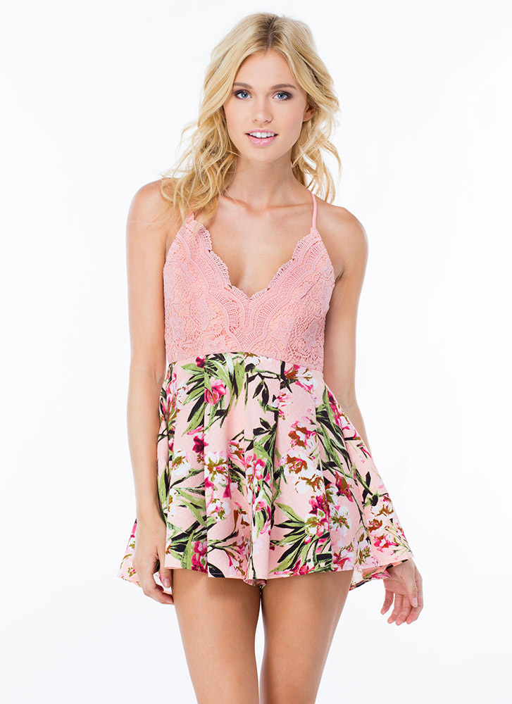 Dress To Impress Tropical Romper