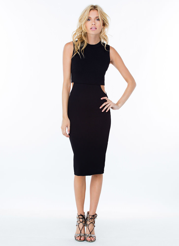 2-In-1 Cut-Out Dress