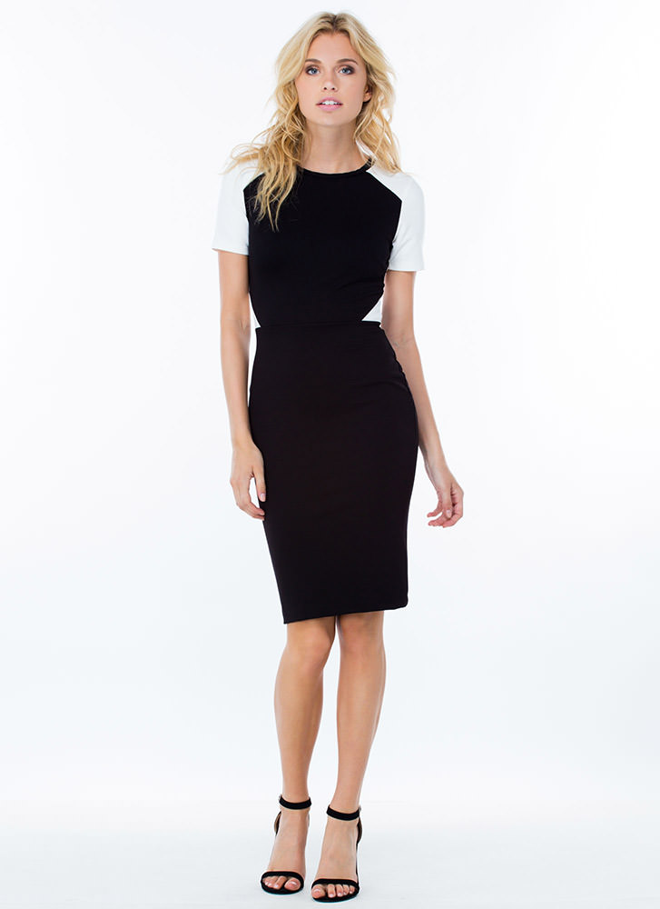 All Business Two-Tone Dress